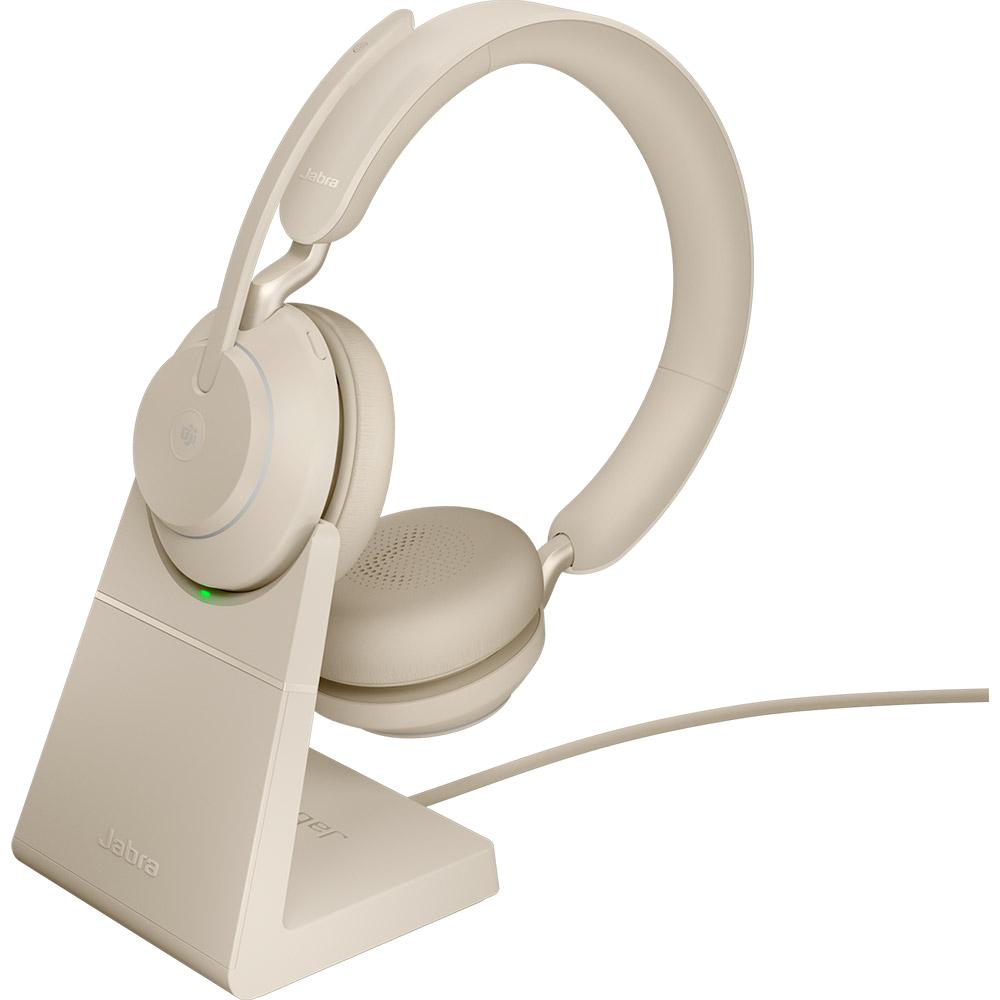 Jabra Evolve2 65 MS Stereo USB-A med Laddställ Beige