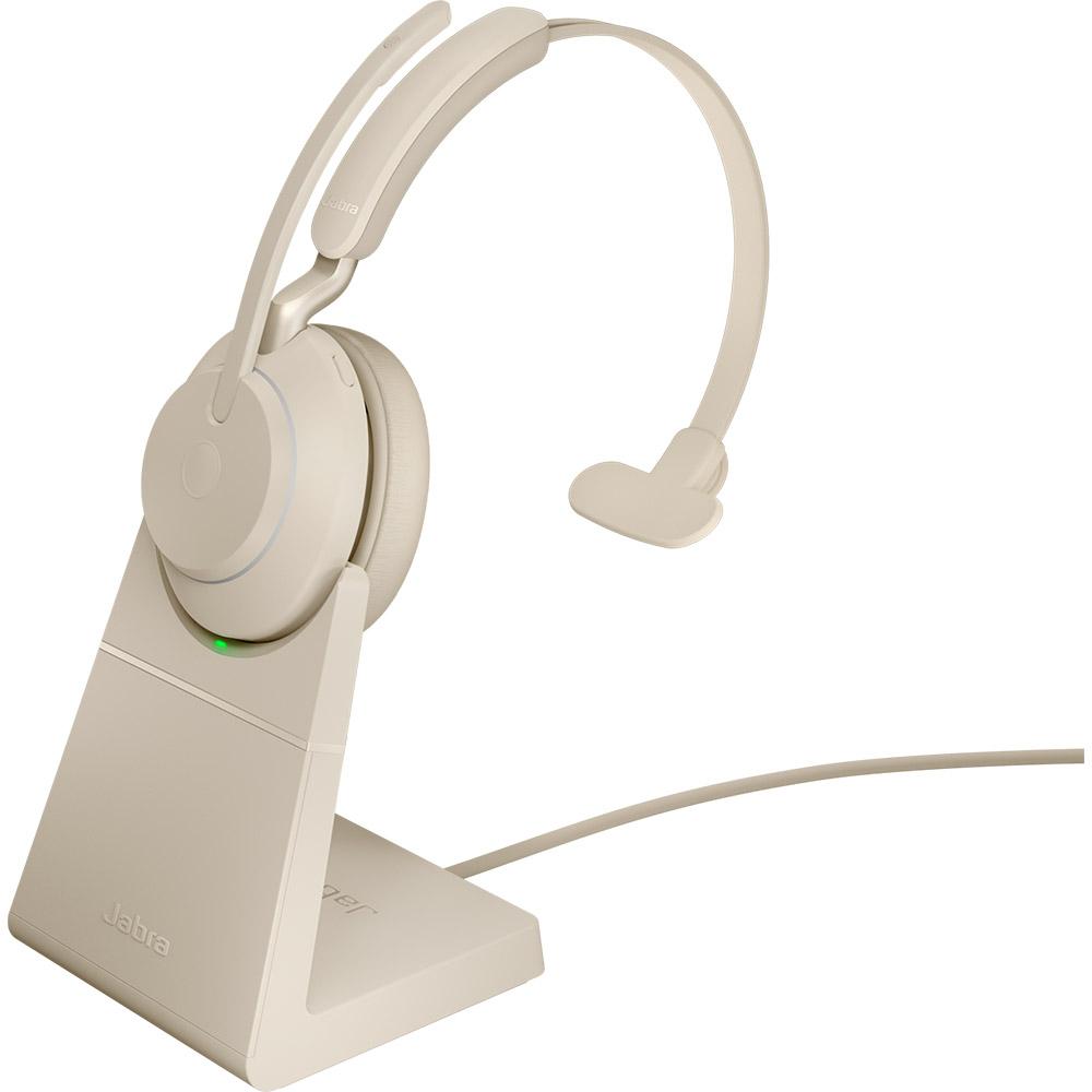 Jabra Evolve2 65 UC Mono USB-A med Laddställ Beige