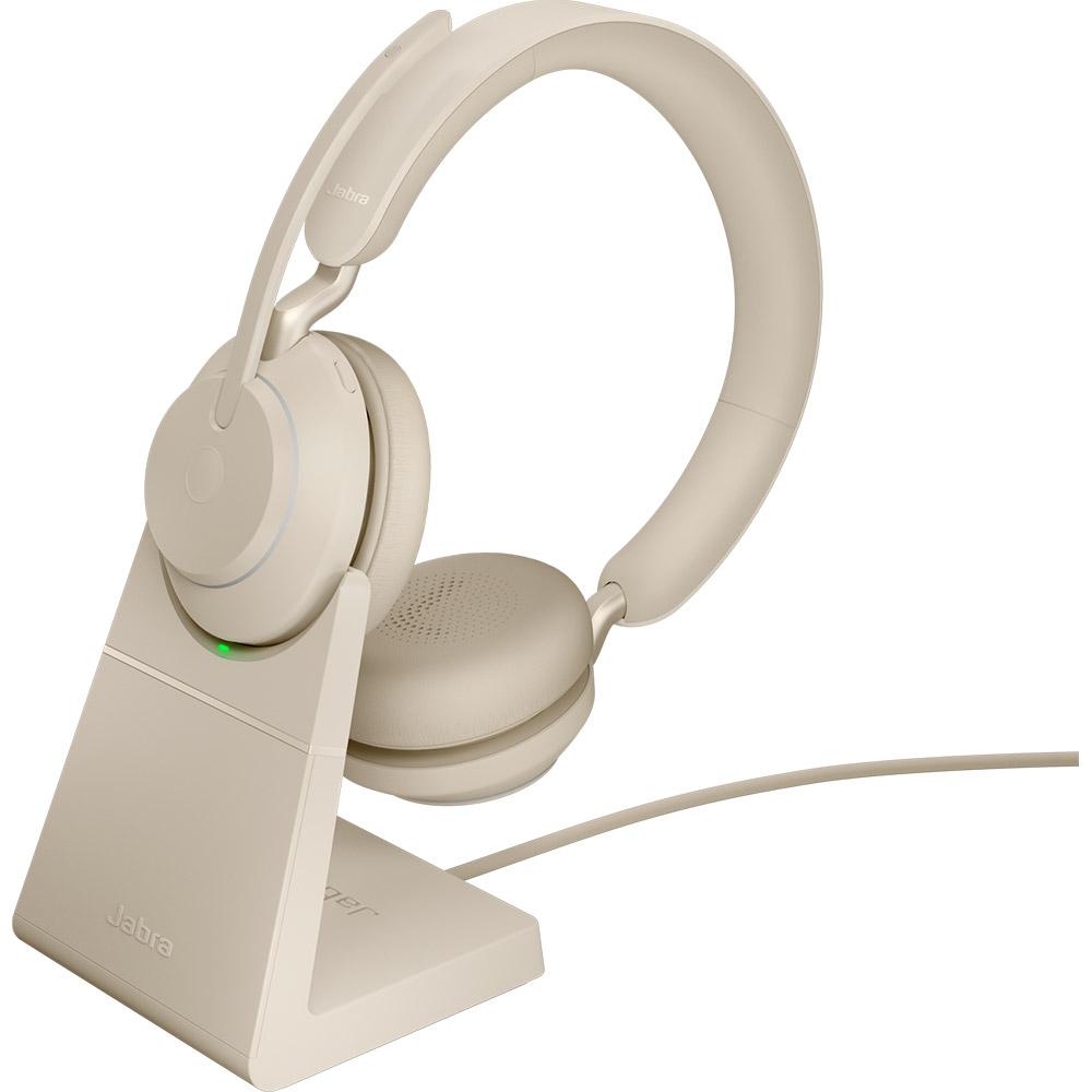 Jabra Evolve2 65 UC Stereo USB-A med Laddställ Beige
